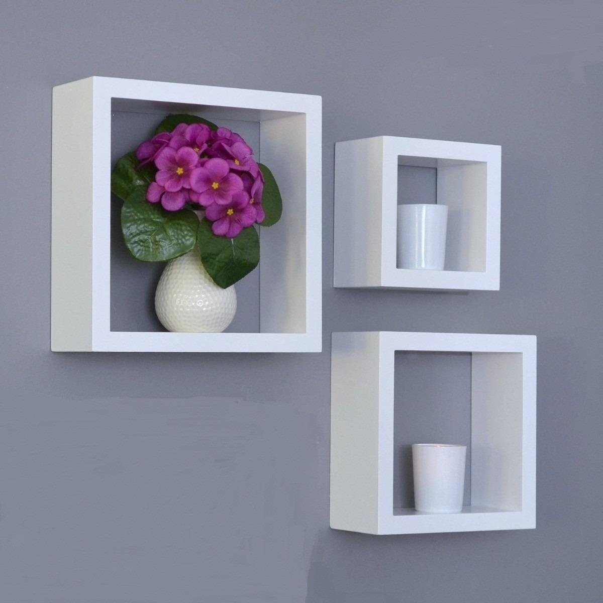 cubos repisas minimalista juego 3pzas modernas sala hogar bs en mercado libre. Black Bedroom Furniture Sets. Home Design Ideas