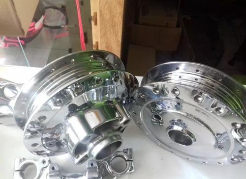 cubos titan fan 125 cromados+espelho