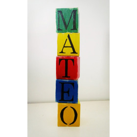 Cubos Vintage Madera Letras Nombres X 5 Deco Candy Cumple