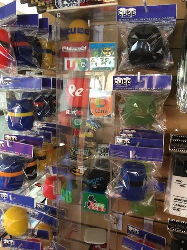 cubos y esponjas para microfono,  rotuladas