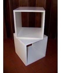 cubos,cuadrado,rectangulos en melamina blanca,c/envio econo.