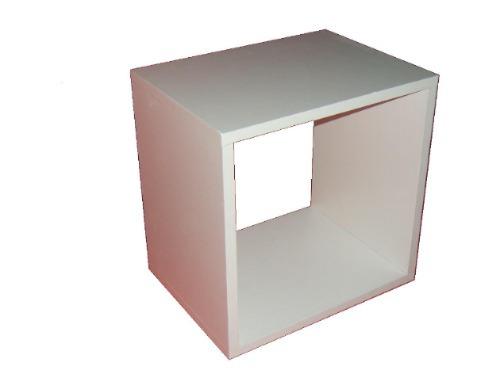 cubos/melamina 18mm  - oferta 2013 color blanco 40x40x30