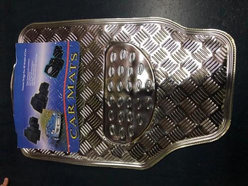 cubre alfombra tuning gris metalizada x4 partes