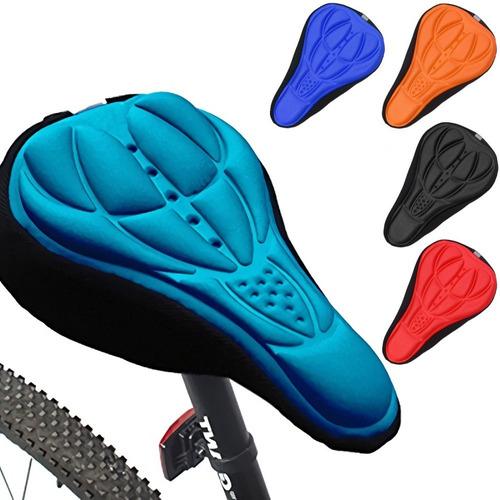 cubre asiento con gel para bicicleta spinning ciclismo funda