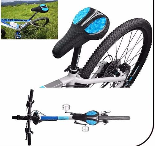 cubre asiento sillin bicicleta acolchado coolchange velcro