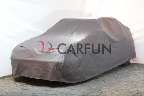 cubre autos en pvc con base de felpa largo 3.9mts -carfun-