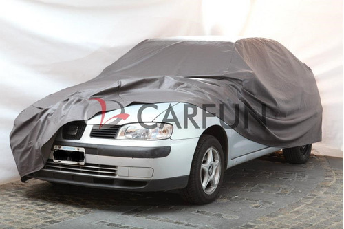 cubre autos en pvc con base de felpa largo 4.3mts -carfun-