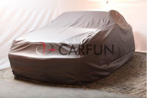 cubre autos en pvc con base de felpa largo 4.7mts -carfun-