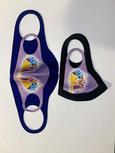 cubre bocas de polietileno para niños y adultos reusables.