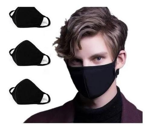 cubre bocas lavable de neopreno negro