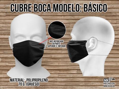 cubre bocas negro antiviral desechable. paquete c/ 100 pzas.