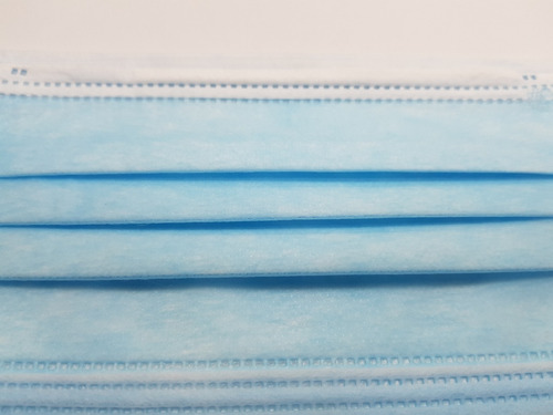 cubre bocas quirúrgico 3 capas plisado termosellado 10pzas
