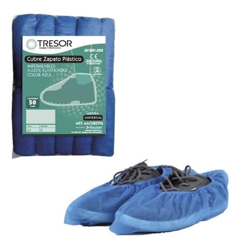 cubre calzado desechable azul