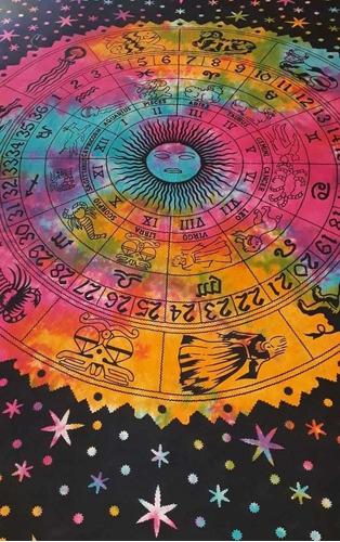cubre cama 2 plazas signos zodíacos
