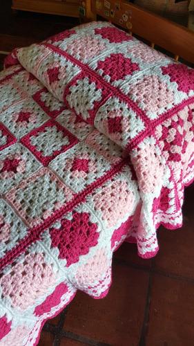 Cubre cama en crochet de 1 plaza en mercado libre for Cubrepies de cama