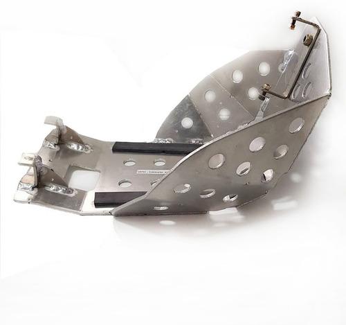 cubre carter aluminio bm ktm exc 450 520 solomototeam