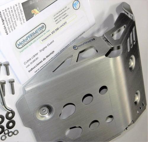 cubre carter aluminio yamaha xtz 250 lander motoperimetro ®
