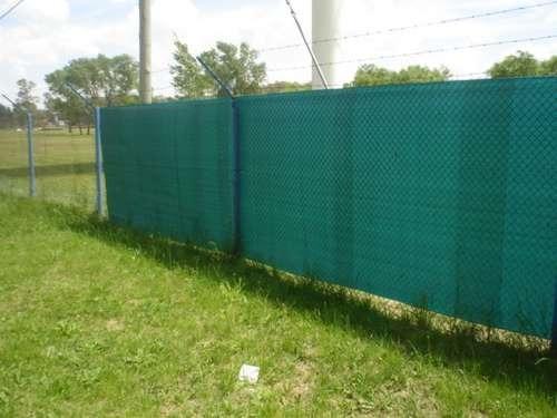 cubre cerco de rafia verde 1,85 de ancho x metro