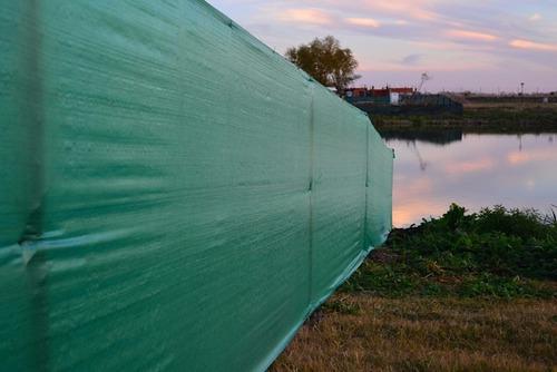 cubre cerco rafia verde 1,90x100 mts 90gr nebraska sin inter