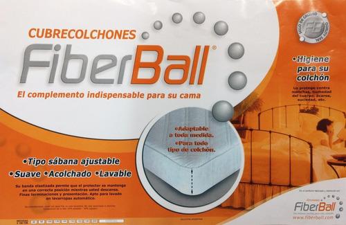 cubre colchón protector fiberball - king size - 200x200