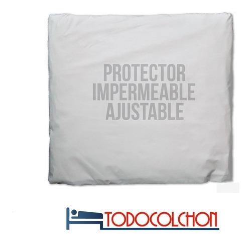 cubre colchon protector impermeable reforzada x 90 cm ajust