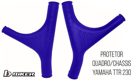 cubre cuadro plasticos yamaha ttr 230 azul solomototeam