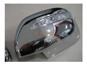 cubre espejos cromados c/led toyota hilux 2005-15 envio grat
