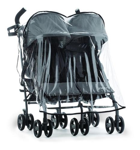 cubre lluvia capota cochecito de bebé mellizos o hermanitos