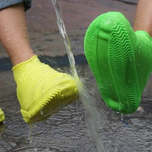 cubre lluvia playa calzado tenis zapato impermeable silicon