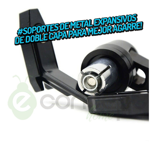 cubre manijas moto aluminio protector palancas negro - bm008