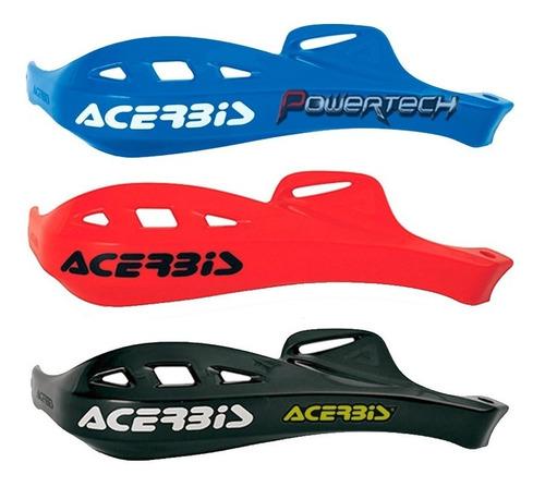 cubre manos rally profile acerbis / negro - rojo - azul