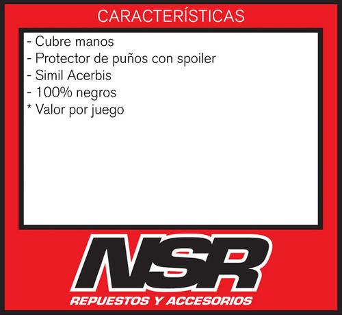 cubre manos t/ acerbis dual troad motocross enduro nsr motos