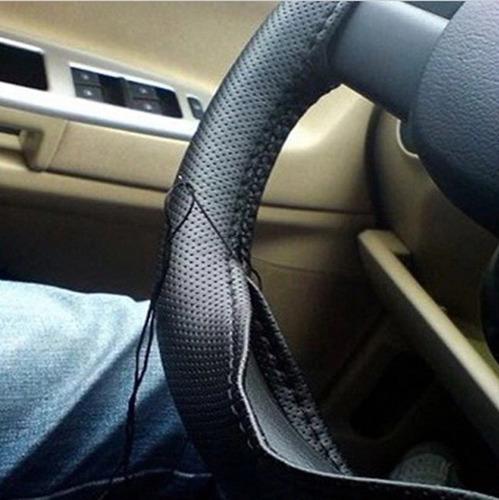 cubre manubrio deportivo volante cuero sintético hilo negro