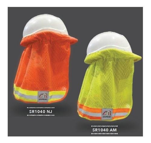 cubre nuca para casco de alta visibilidad sombra nuquera