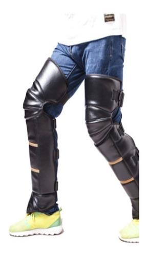 cubre pierna de motociclista largo con  corderito adentro