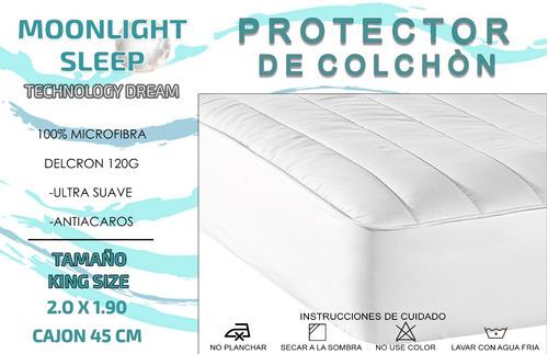 cubre protector colchón matrimonial moonlight ultrafresh