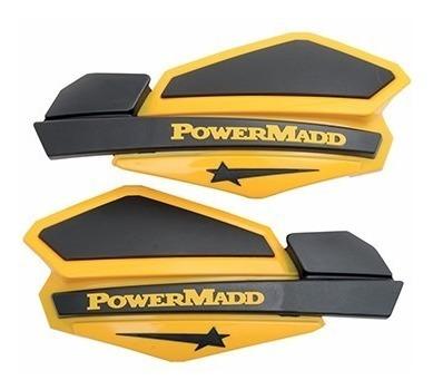 cubre puños protector manos amarillo negro powermadd star