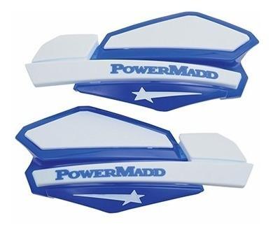 cubre puños protector manos azul blanco powermadd star juri