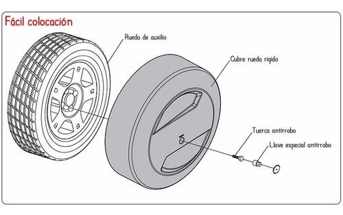 cubre rueda bepo para ford ecosport kinetic negro ebony