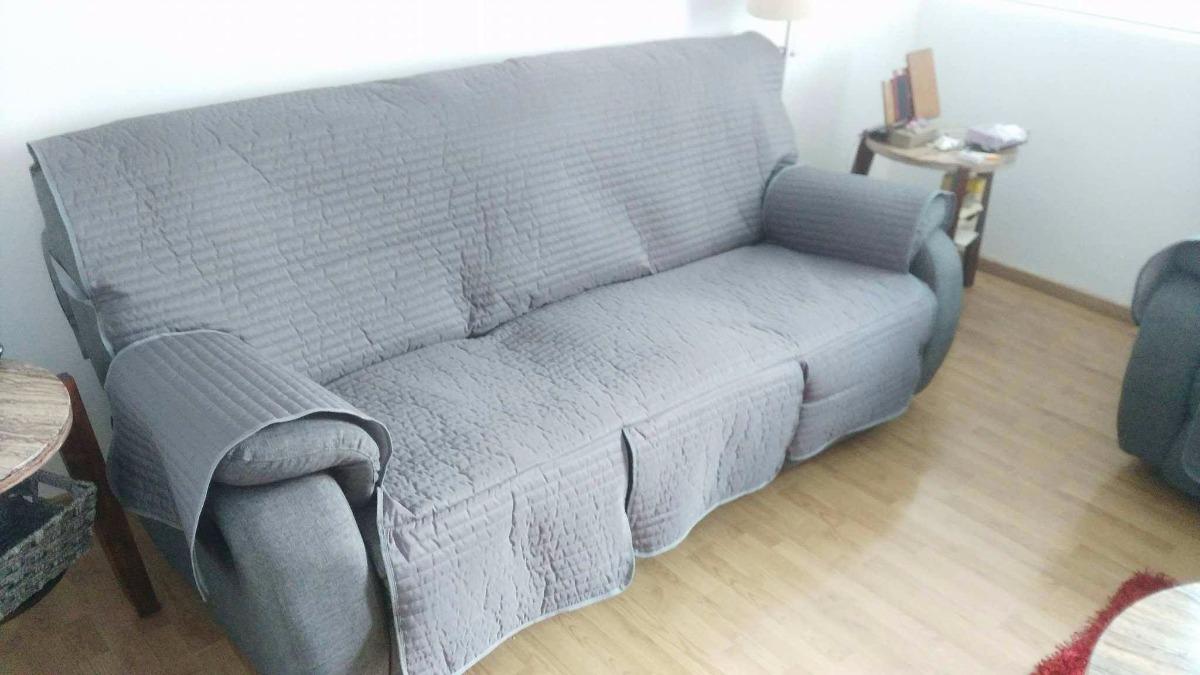 Cubre salas protector couch sill n sof 3 plazas funda en mercado libre - Sillon 3 plazas ...