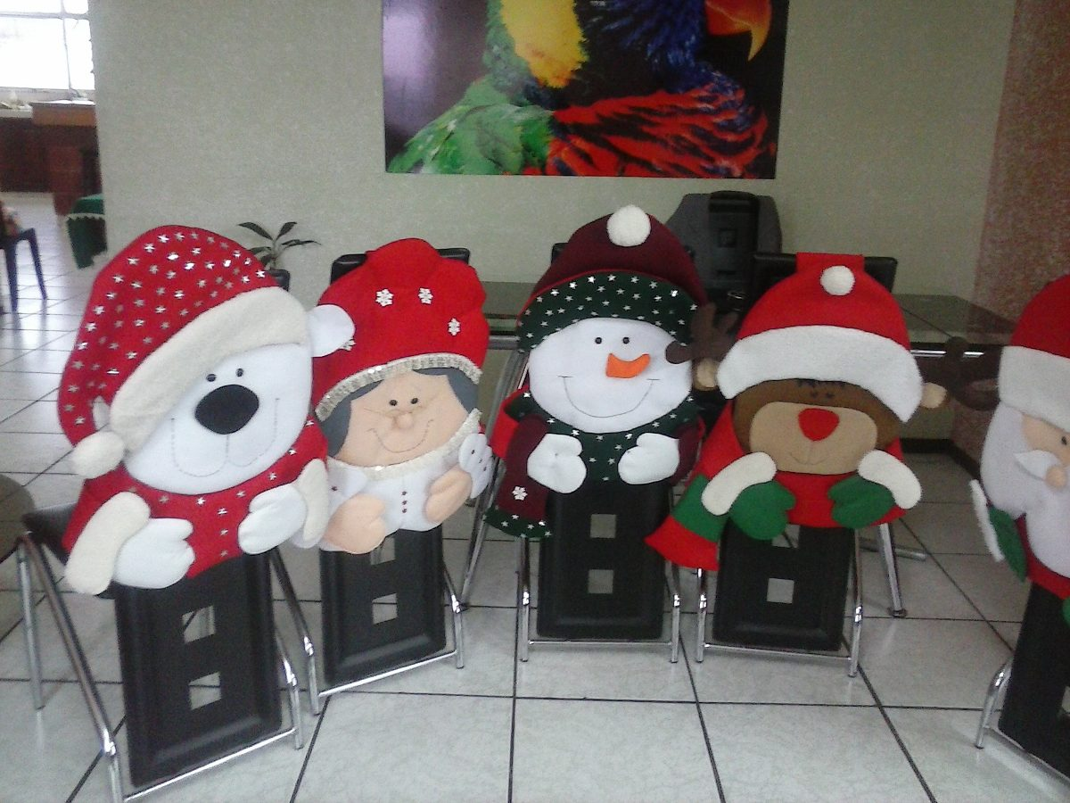 Cubre sillas navide os u s 16 00 en mercado libre - Decoracion navidena para el hogar ...