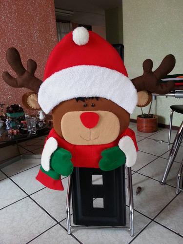 cubre sillas navideños