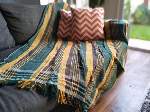 cubre sillon pie de cama xl manta rustica country 230x130cm