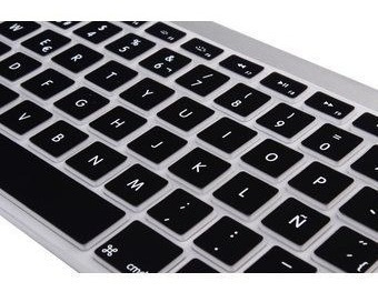 cubre teclado negro en español - macbook pro / retina / air