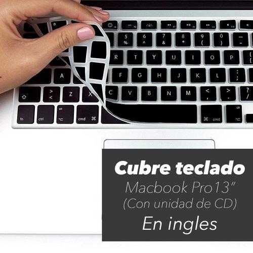 cubre teclado negro ingles macbook pro 13  (con unidad cd)