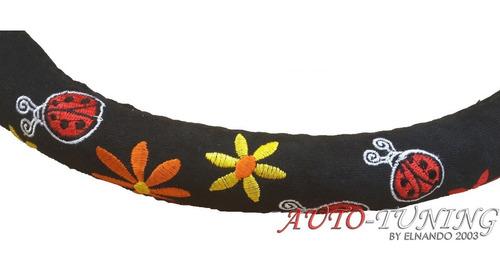 cubre volante femenino bordado y terciopelo flores envios