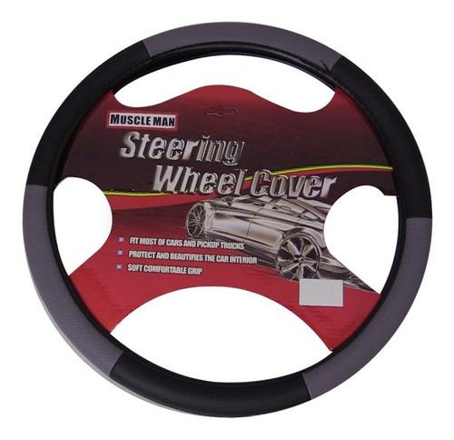 cubre volante negro/gris vehiculos 10unid. envio gratis!