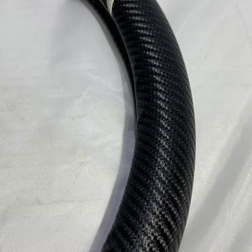 cubre volante p/ auto negro + carbono deportivo mod88