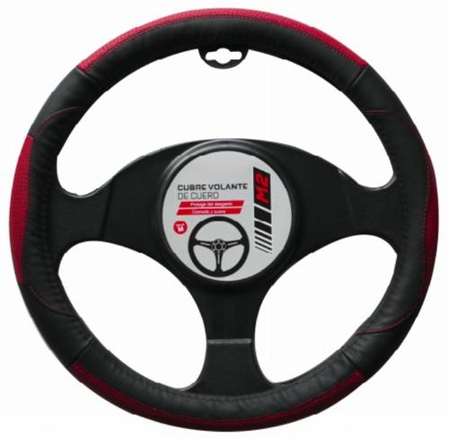 cubre volante premium negro rojo | obsequiacl