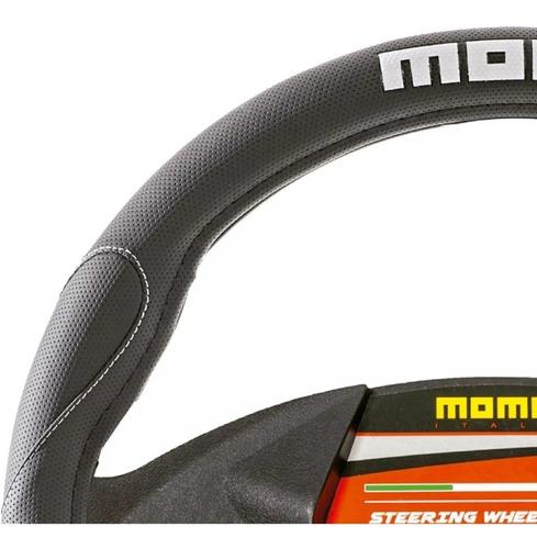 cubre volante universal momo italy negro y blanco swc006bw